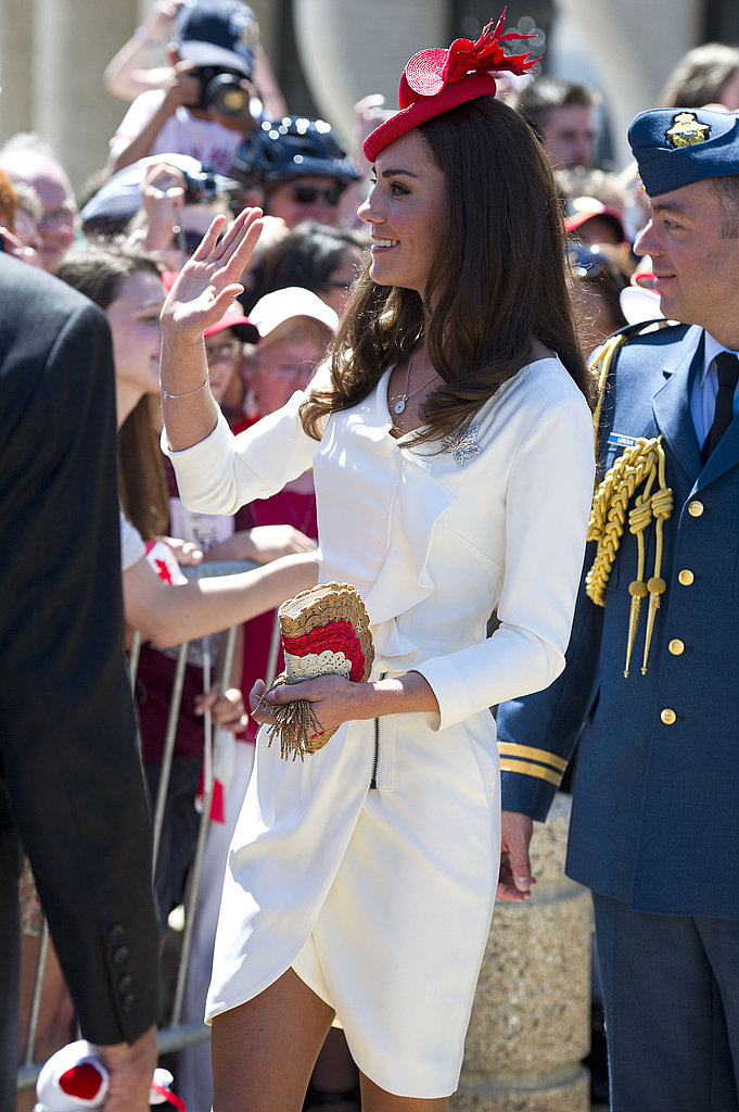 The Duchess of Cambridge shows some leg on Canada Day.