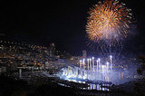 Princess Charlene of Monaco and Prince Albert II of Monaco celebrate their civil ceremony with a huge fireworks display and concert.