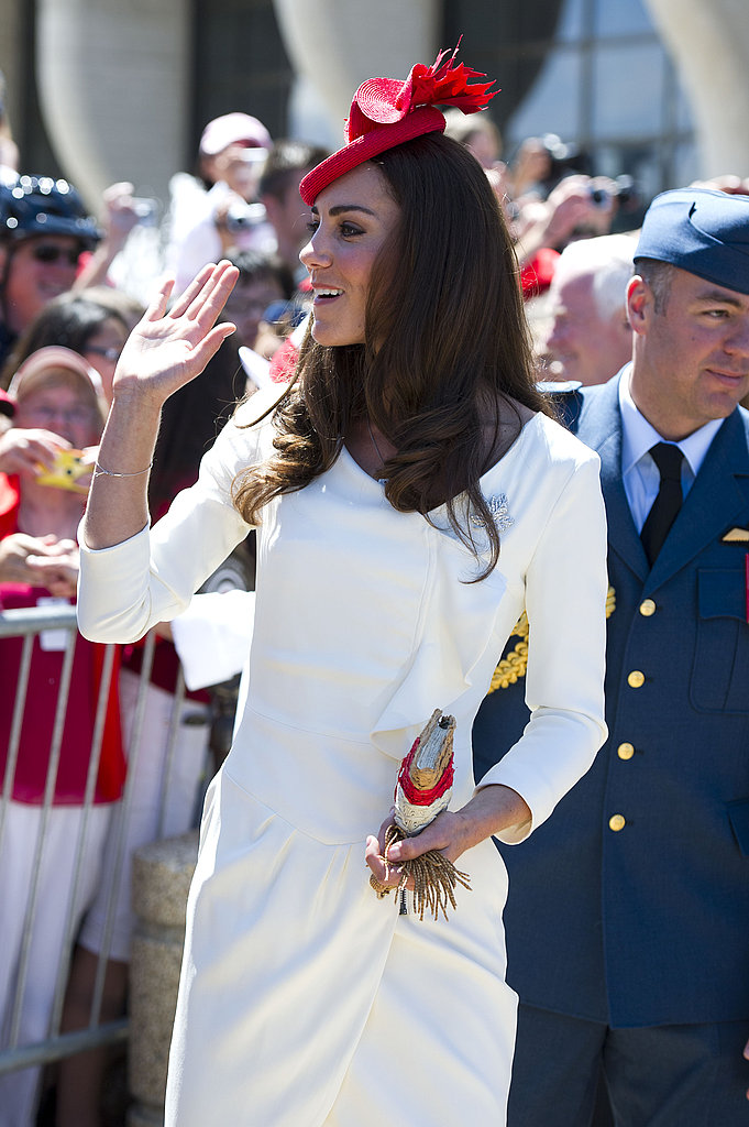 Kate waves to her Canadian fans.