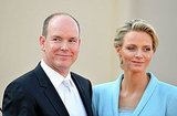 Princess Charlene of Monaco and Prince Albert II of Monaco smile after their ceremony.