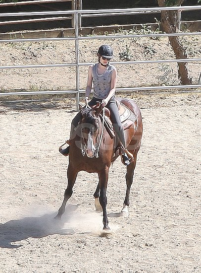 Kristen Stewart Goes Horseback Riding as She Preps For Her Snow White Role