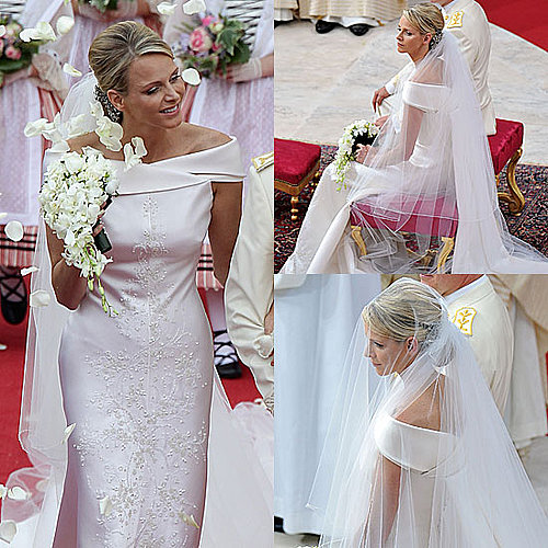 Pictures of Princess Charlene of Monaco Wedding Dress: See Her Armani Prive Gown From All Angles!