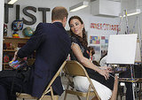 Prince William and Kate Middleton at Inner City Arts in LA.