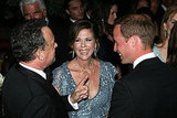 Prince William with Tom Hanks and Rita Wilson at the BAFTA Brits to Watch event in LA.