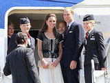 Prince William and Kate Middleton depart LA.