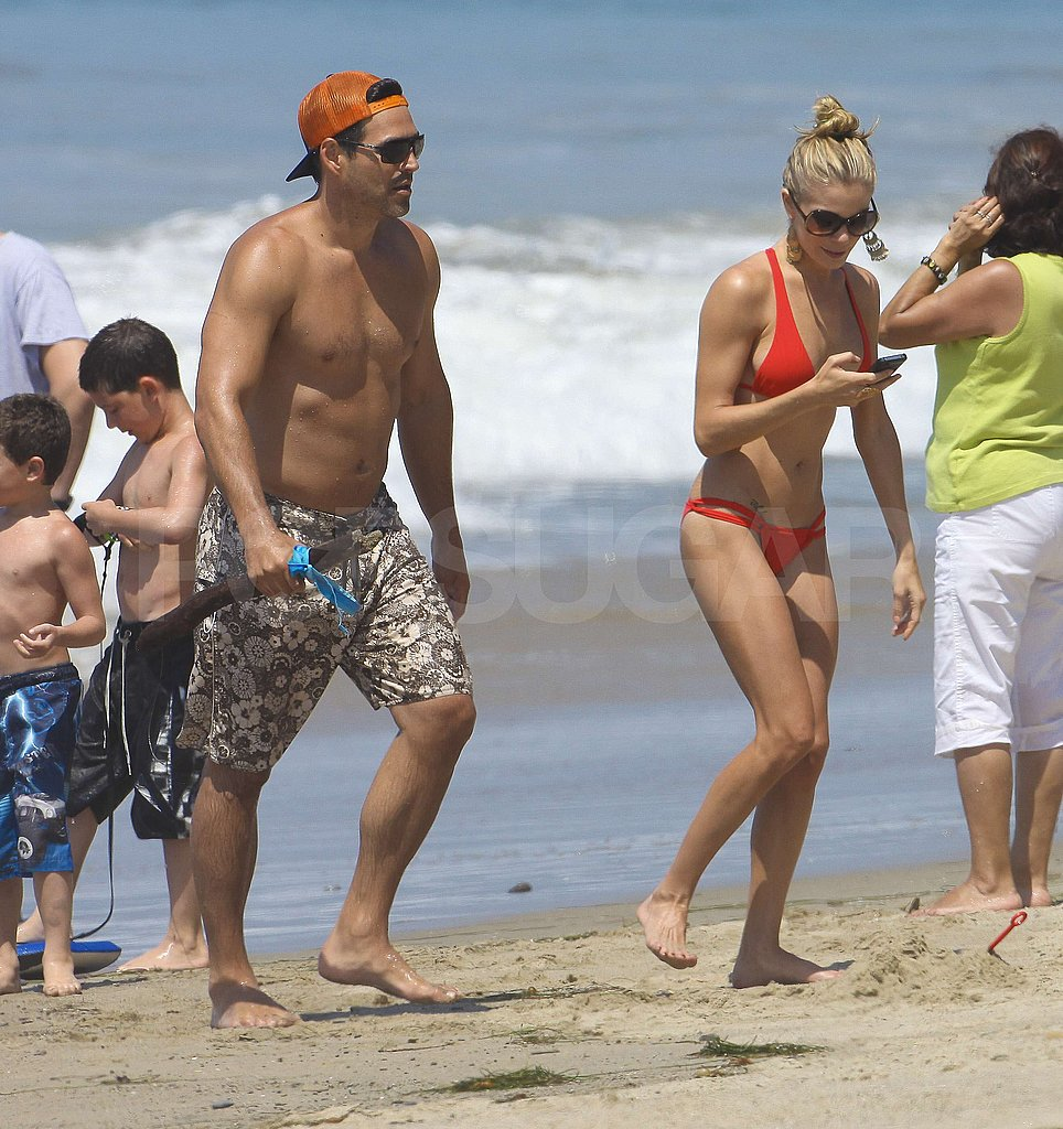 LeAnn Rimes Slips Into a Tiny Red Bikini For Fourth on the Beach With Shirtless Eddie and His Kids