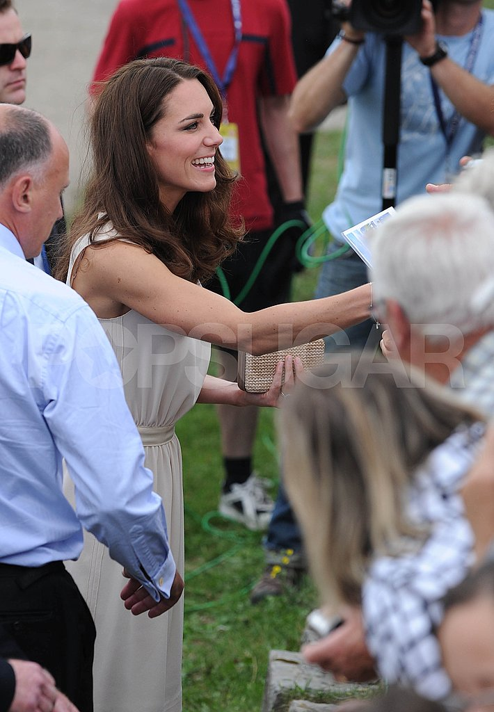 Kate Middleton shared a big smile with onlookers.