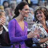Kate Middleton clapped as she watched the closing Canada Day celebrations.