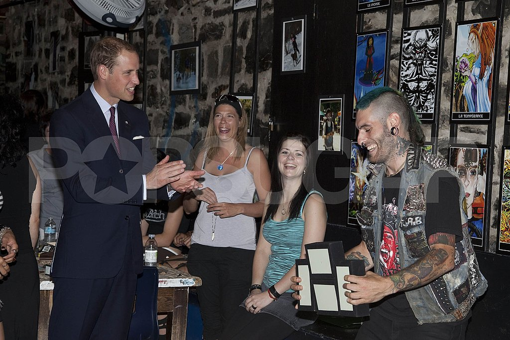 Prince William was welcomed to the youth center.