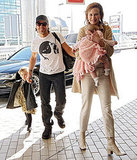 Nicole Kidman and Keith Urban at airport with Sunday and Faith.