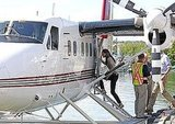 Kate Middleton boards a seaplane in Canada.