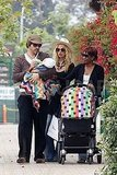 Rachel Zoe and Rodger Berman had their son, Skyler, along as they shopped Malibu.