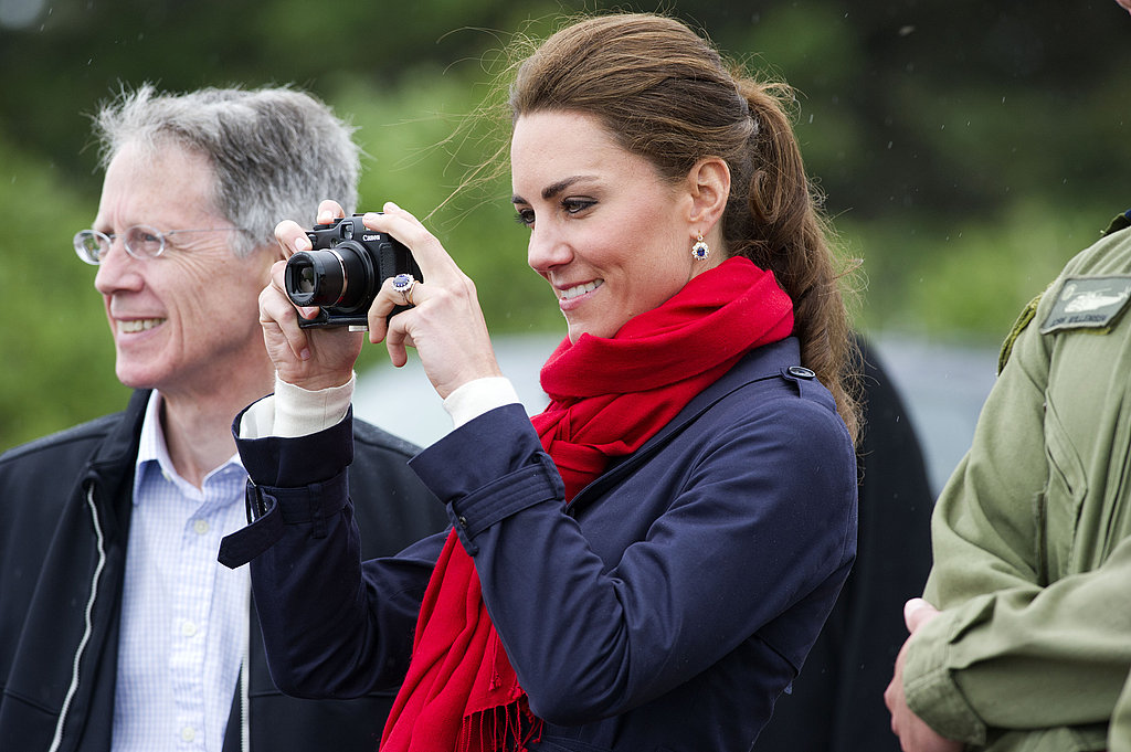 Kate Middleton snapped pictures of Prince William.