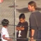 Brad Pitt and Kids on the Set of World War Z Video