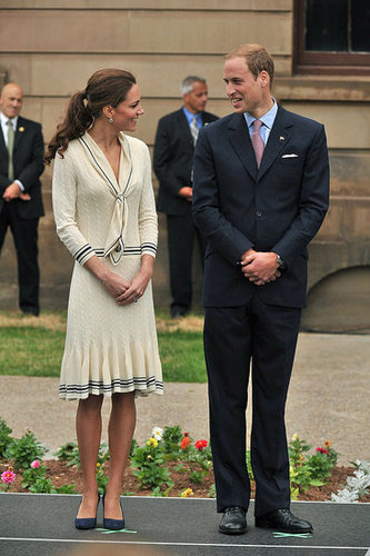 Kate Middleton and Prince William shared a sweet gaze.