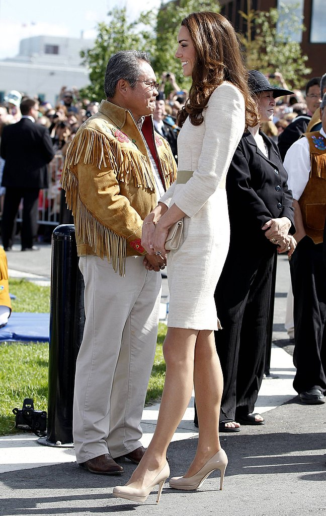Kate Middleton went for another neutral look.