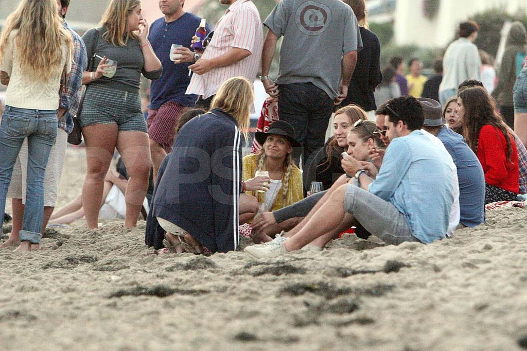 Nicole Richie hangs out in the sand in Malibu.