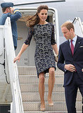 Prince William and Kate Middleton did a quick change on the plane.