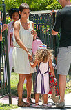 Halle Berry held hands with her daughter, Nahla Aubry.