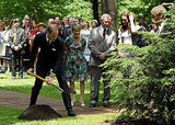 Prince William chipped in as he and Kate Middleton planted a tree.