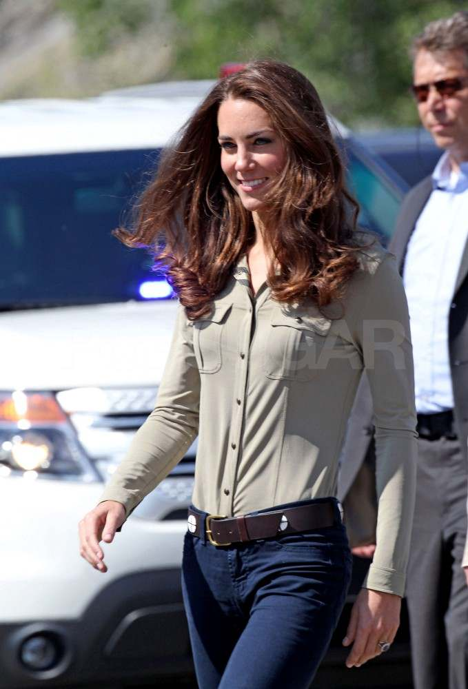 Kate Middleton wearing jeans in Canada.