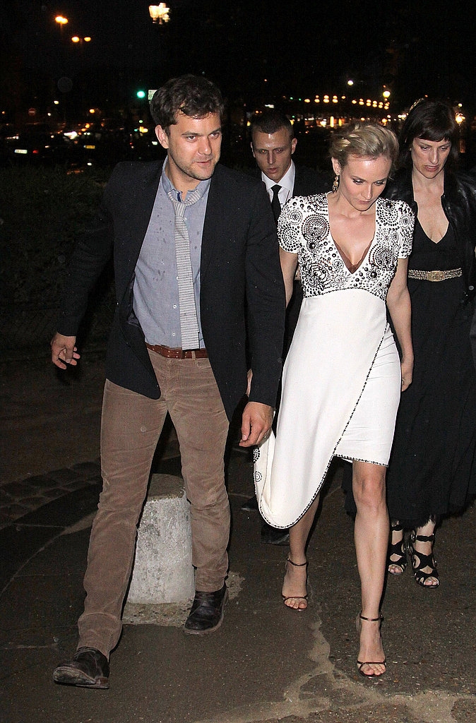 Diane Kruger and Joshua Jackson at the Chanel show in Paris.