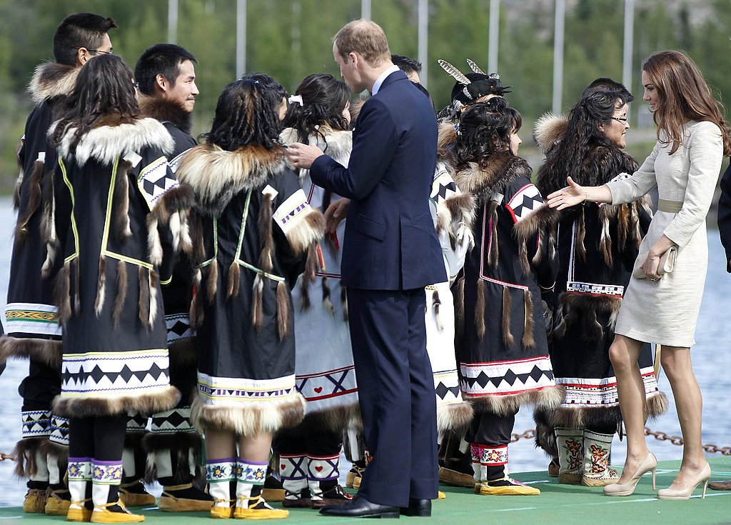 The Duke and Duchess of Cambridge greet locals on their North American tour.