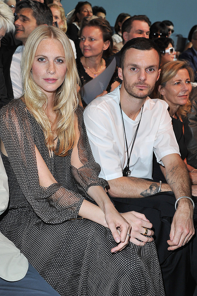 Poppe Delevingne and Kris Van Assche at Christian Dior