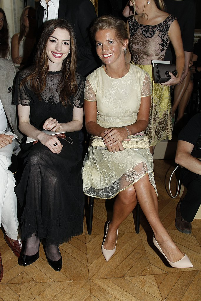 Anne was seated in the front row for Valentino's show.
