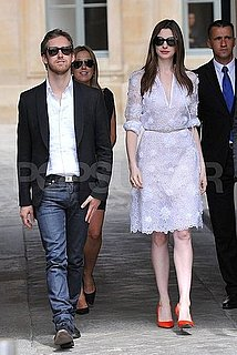 Pictures of Anne Hathaway and Adam Shulman in Paris