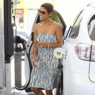 Pictures of Halle Berry in a Strapless Sundress in LA