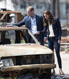Kate Middleton and Prince William visit fire-damaged Slave Lake.