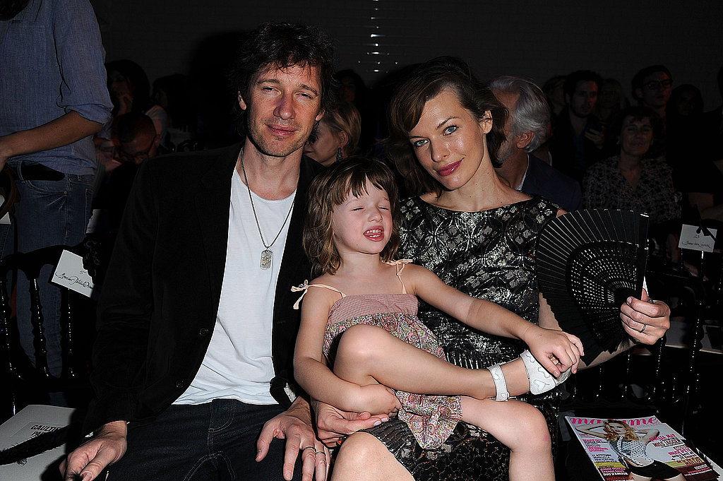 Milla Jovovich and her daughter, Ever Anderson, joined Paul W.S. Anderson for the couture presentation.
