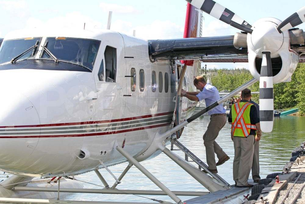 Prince William hopped on a seaplane after Kate Middleton.