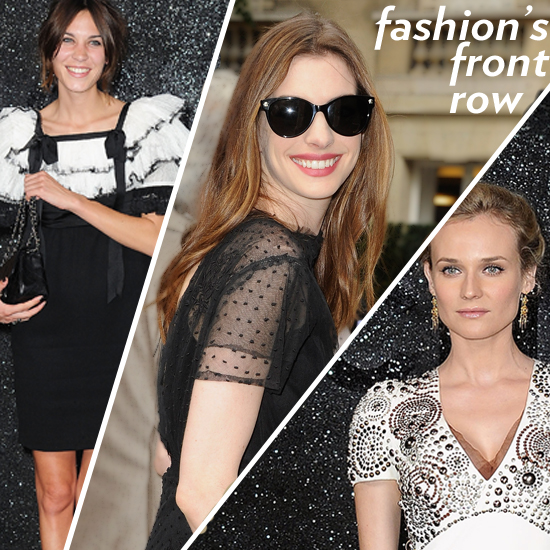 Celebrities at Chanel and Valentino Haute Couture Shows