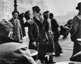 "French photographer Robert Doisneau's ""Kiss by the Hotel de Ville (Le baiser de l'hôtel de ville)"" was a 1950 photograph of a couple kissing in Paris that he created for Life magazine. Source: Flickr User kait jarbeau"