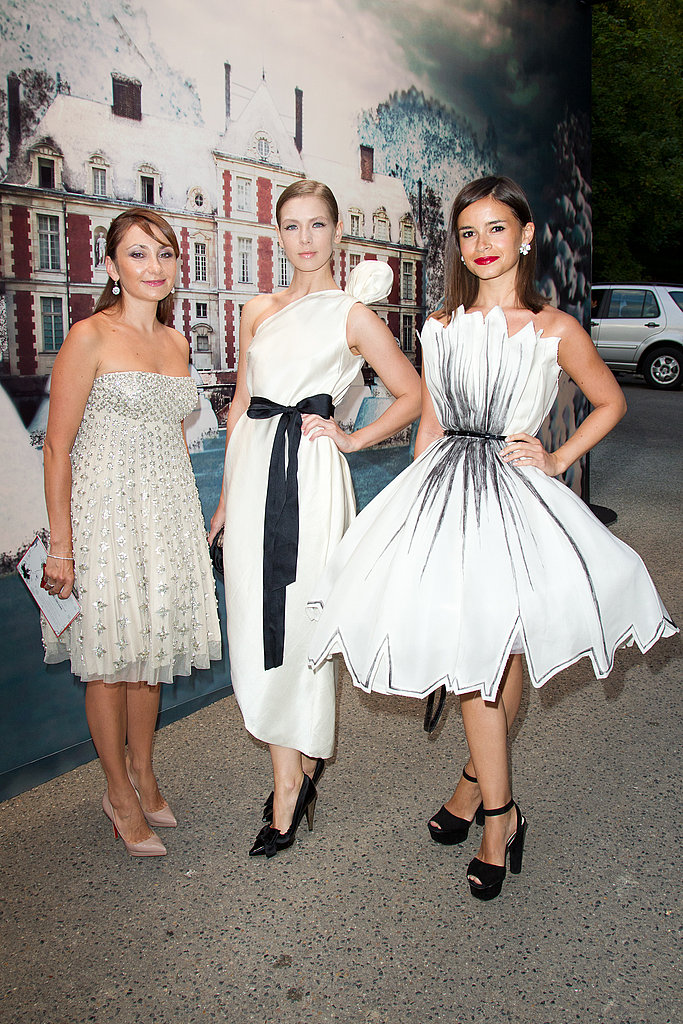 Vika Gazinskaya, middle, and Miroslava Duma, left