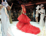 Natalia Vodianova in custom Valentino in the Love Ball fashion show