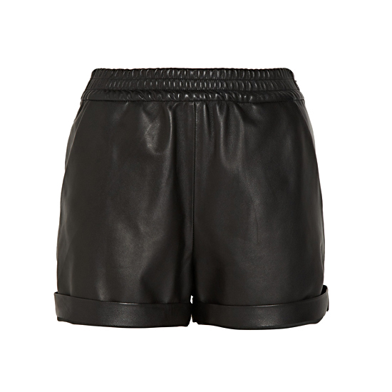 Maison Martin Margiela Cuffed Leather Shorts, $1,395    Pair with:
