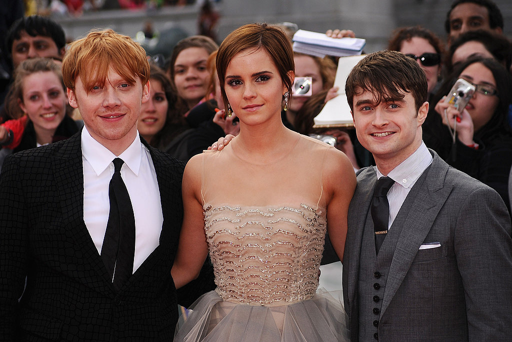 Daniel Radcliffe, Emma Watson, Rupert Grint, and J.K. Rowling Bid Farewell to Harry Potter With Their London Fans