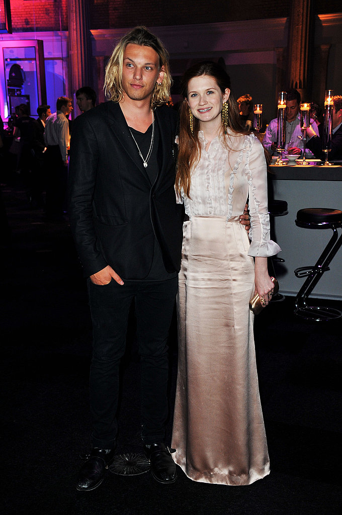 Jamie Campbell Bower posed with Bonnie Wright.