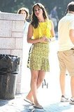 Leighton Meester wore a sunny yellow top.
