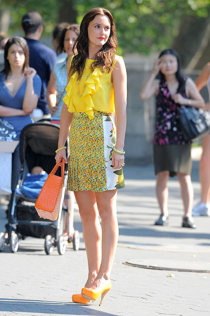 Leighton Meester tried out some of Summer's big trends on set.