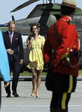 Prince William and Kate Middleton were greeted in Calgary.