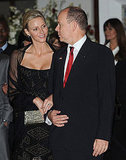 Princess Charlene and Prince Albert shared a loving look.
