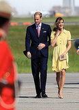 Kate Middleton wore a bright shade of yellow for the royal visit.