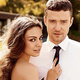 Mila Kunis and Justin Timberlake For Elle Magazine