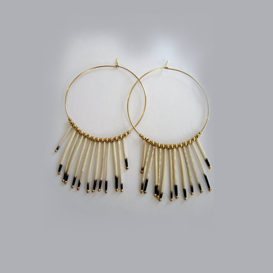 Kristen Elspeth Sunburst Earrings in Gold, $127