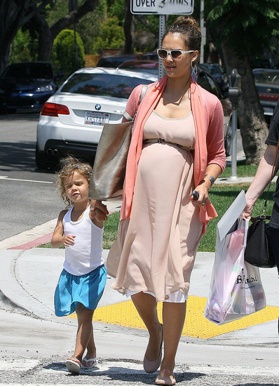 Jessica Alba and Honor Warren Baby Shop at Bel Bambini