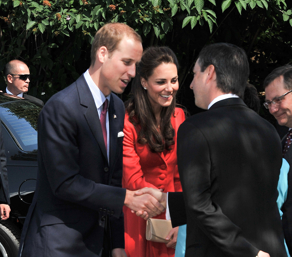 Prince William thanked his hosts before leaving the zoo.